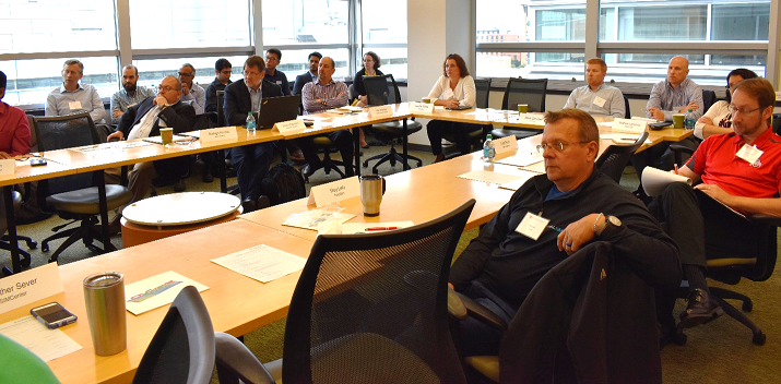 External advisory board members from Caterpillar, Whirlpool, Mathworks, Honda R&D Americas and other companies were briefed on recent SIMCenter developments.